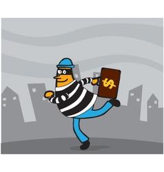 Thief cartoon vector image vector image