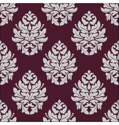 Vintage seamless pattern in carmine and white vector