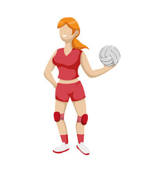 Voleyball player cartoon vector