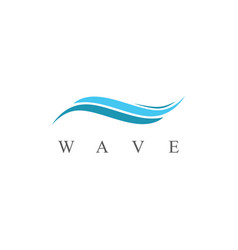 wave abstract logo vector image