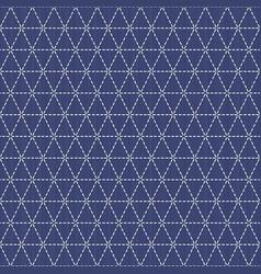 weaving japanese sashiko motif seamless pattern vector image vector image