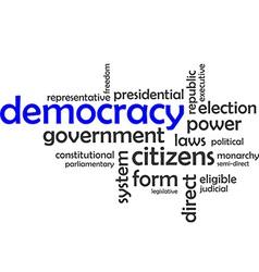 Word cloud democracy vector