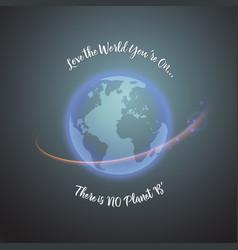 World earth day concept monochrome vector