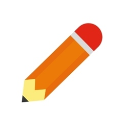 pencil school supply isolated icon vector image