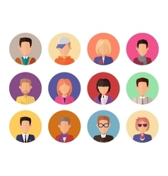 Portraits for avatars without facial features vector