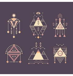 set of sacred geometry vector image