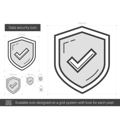 Data security line icon vector