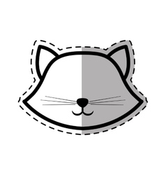 Face cat breed animal mammal dot line shadow vector