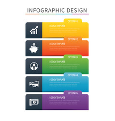 Infographics tab index 5 option template vector