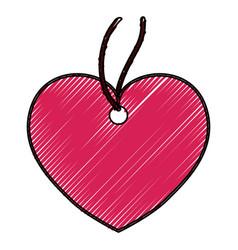 heart pendant necklace vector image