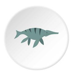 Ichthyosaur dinosaur icon circle vector