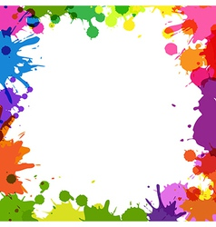 Frame with color blobs vector