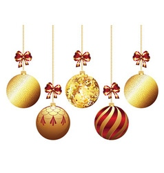 Decorative xmas balls3 vector