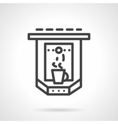 Espresso machine simple line icon vector