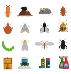 Pest icons set vector