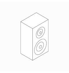 Sound speaker icon isometric 3d style vector