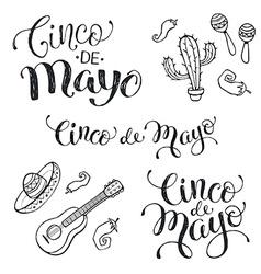 Cinco de mayo phrases vector