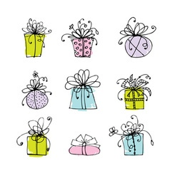 Gift box icons for your design vector image