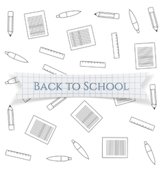 Back to school text on realistic label vector