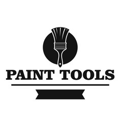brush tool logo simple black style vector image