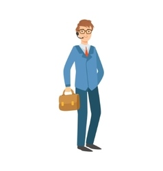 Businessman office worker part of happy people vector