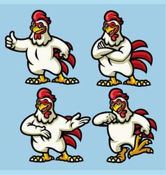 Chicken mascot vector