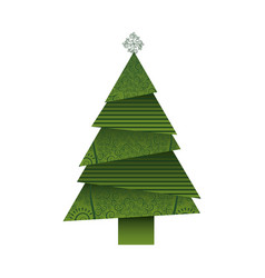colorful background of abstract christmas tree vector image vector image