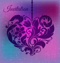 decorative ornamental heart vector image vector image