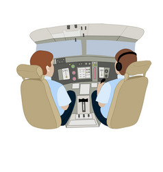 depicting pilots in an vector image
