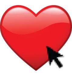 digital heart vector image