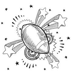 doodle pop football american vector image vector image