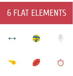 flat icons blower kettlebells american football vector image