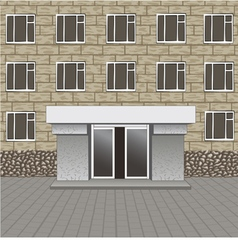 Front of building entrance vector image
