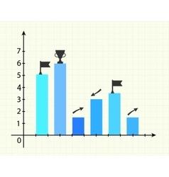 Graphics in presentation vector image vector image