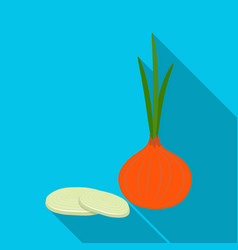 green onion with leavesburgers and ingredients vector image