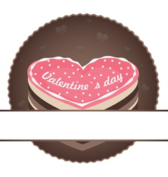 heart cake vector image