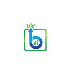 Letter b up arrow vector