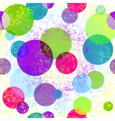 Light grungy seamless rainbow pattern vector image vector image