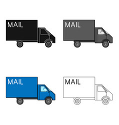 Mail machinemail and postman single icon in vector