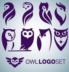 OWL LOGO SET vector image vector image