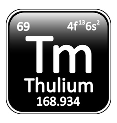 Periodic table element thulium icon vector