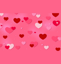 pink heart valentine s day background vector image
