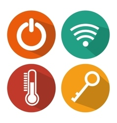 Smart home set menu icons vector