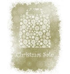 Snowflake gift bag on elegant background eps 8 vector