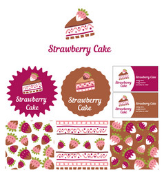 Style for a candy store ready desserts and cakes vector