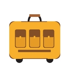 Travel Suitcase icon flat style Classic with a vector image