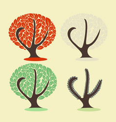 Tree in different seasons vector