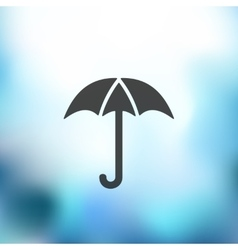 umbrella icon on blurred background vector image