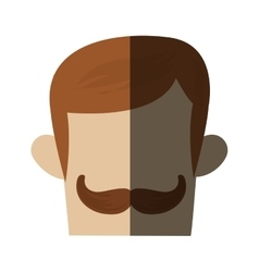 Isolated hipster man head design vector