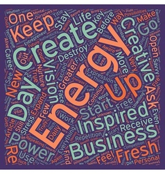 How to energize your business everyday text vector